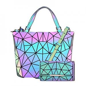 HotOne Geometric Purse Holographic Purse and Handbag Color Changes Luminous Purse for Women now 38..