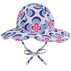 Baby Sun Hat for Girls - Toddler Kids Girls UPF 50+ Wide Brim Bucket Sun Protection Hat with Tie n..