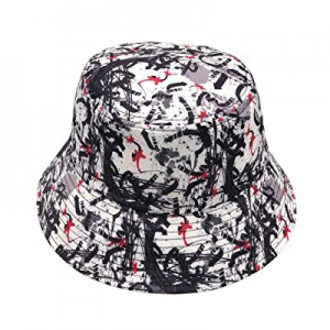 Unisex Bucket Hat Cotton Summer Boonie Cap Fisherman Printed Packable Outdoor Sun Hats now 52.0% o..