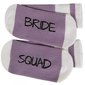 Umeko Womens Bride Squad Socks Cute Funny Letter Printed Wedding Cotton Crew Sock now 70.0% off