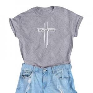 IRISGOD Womens Christian T Shirts Summer Causal Faith Cross Short Sleeve Graphic Tees Tops now 70...