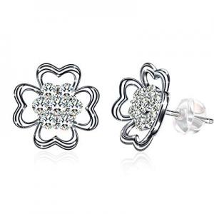 Stud Earrings - Zhulery Women's 925 Sterling Silver Allergy Stud Earrings Gift Box Can Be Used As ..