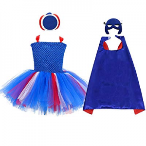 AQTOPS Girls Super Hero Dress Costume Party Supergirl Tutu Outfits now 50.0% off