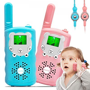 One Day Only!Kids Walkie Talkies now 50.0% off , 22 Channel 2 Way Radio 3 Mile Long Range Kids Toy..