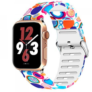 Aomoband Floral Bands Compatible with Apple Watch 38mm 42mm 40mm 44mm now 65.0% off , Soft Silicon..
