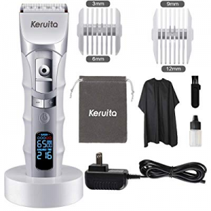 KERUITA Hair Clippers now 30.0% off , High Performance LED Hair Trimmer Kit for Men with LED Scree..