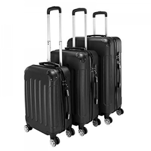 "One Day Only!Tenozek 3-in-1 Portable ABS Trolley Case 20"" / 24"" / 28"" Black now 80.0% off"