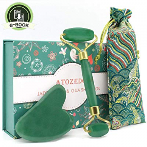 One Day Only!40.0% off Jade Roller for Face - Gua Sha Tools - 100% Real Jade Stone Face Massager S..