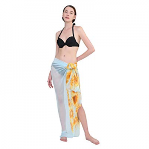 One Day Only!ZORJAR Sarong Wrap Beach Cover Up Chiffon Large Oversize Scarf now 65.0% off