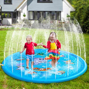 """50.0% off Flow.month Sprinkler Pad and Splash Play Mat 68"""" Kids Children Toddler Outside Water Toy.."""