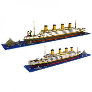 dOvOb Nano Blocks Titanic Model Building Set with 2 Figure now 30.0% off , 1872 Piece Mini Bricks ..