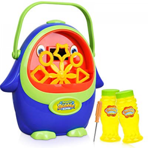 Bubble Machine - Automatic Bubble Blower with Bubble Solution for Kids Toddlers now 60.0% off , Po..