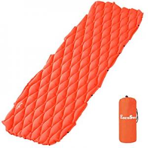 EocuSun Sleeping Pad Inflatable Light Weight Pad Ultralight Compact Comfy Waterproof Air Mattress ..