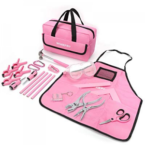 WORKPRO 23-piece Girls Tool Kit with Real Hand Tools now 10.0% off , Safety Goggles, Storage Bag|H..
