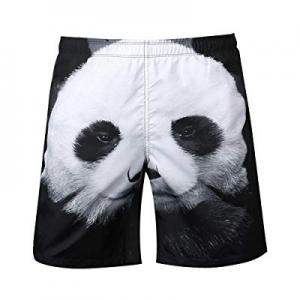 HaoDong Men Summer Beach Short - Casual Swim Trunks Elastic Waist with Pocket Drawstring now 80.0%..