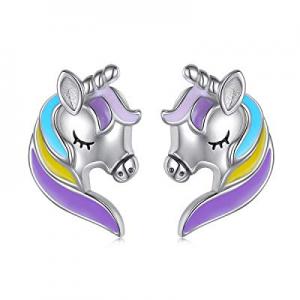 S925 Sterling Silver Hypoallergenic Forever Love Animal Stud Earrings Gift for Her, Women, Daughte..