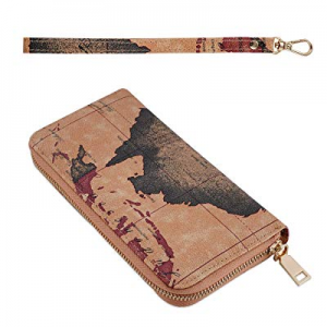 Long Clutch Wallets for Women now 70.0% off , Fashion Checkered Zip Around Wristlet Wallet, Ladies..