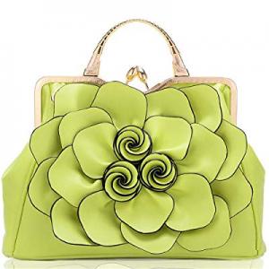 60.0% off Ruiatoo Women's Handbags 3D Flower Satchel Bags Formal Party Wedding Tote Purses with De..