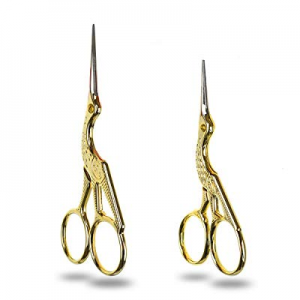 70.0% off Looen Vintage Sewing Scissors Craft Set Crane Bird Fabric Shears Small Sharp Cross Stitc..