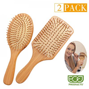 Zhuoyue Hair Brush - Natural Bamboo Paddle Hair Brush Set with Bamboo Bristle for Women Mens Kids ..