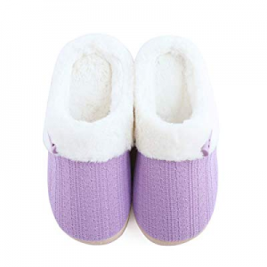 NineCiFun Women's Slip on Fuzzy Slippers Outdoor House Slippers Fur Lined now 51.0% off