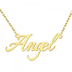 50.0% off Personalized Name Necklace Customized Layered Necklace 18K Gold Plated Nameplate Pendant..