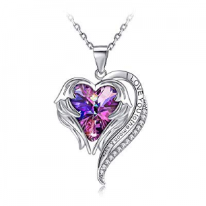 45.0% off PAERAPAK Heart Jewelry Necklace for Women - Angel Wing Heart of The Ocean Pendant Neckla..