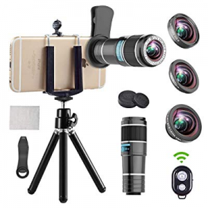 Phone Camera Lens now 30.0% off , 4 in 1 Cell Phone Lens kit, 12x Telephoto Lens + 0.65x Wide Angl..