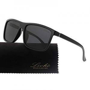 Livhò Polarized Sunglasses for Men Women now 50.0% off ,Vintage Retro Eyewear Frame,Anti Glare UV ..