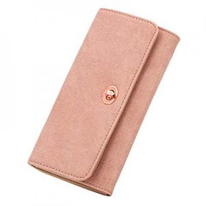 U+U Womens Wallets RFID Blocking now 60.0% off , Luxury Leather Clutch Ladies Purse Credit Card Or..