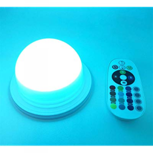 20.0% off RGB LED Under Table Light Multi Colors Changing Battery Powered Wireless Remote Control ..