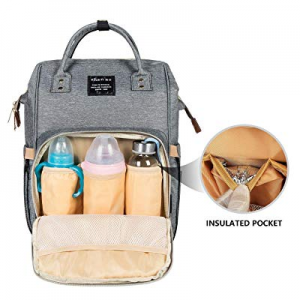 60.0% off IDAND Diaper Bag Fashion Backpack Large Capacity Changing Backpack with Changing Pad for..