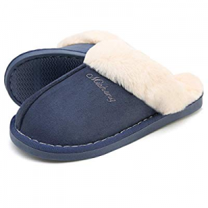 50.0% off SOSUSHOE Women Slippers Fluffy Fur Slip On House Slippers Soft and Warm House Shoes for ..