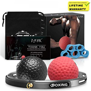 i-FSK Boxing Fight Reflex Ball Training Stress Ball Perfect for Reaction now 30.0% off , Agility, ..