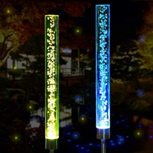 Solar Lights Outdoor - New Upgraded Garden Decor Acrylic Bubble Lights now 40.0% off , Multi-Color..