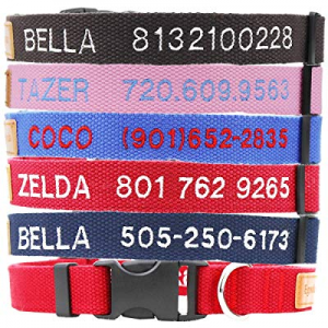 40.0% off Egoola Personalized Dog Collar Custom Embroidered Pet Name and Phone Number for Small Me..