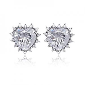 15.0% off Gemstone Stud Earrings for Women - 14k Plated Geometric Cubic Zirconia Crystal CZ Births..
