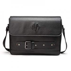 BABAMA Men Leather Messenger Bag Crossbody Shoulder Purse Briefcases Laptop Satchel Black now 80.0..