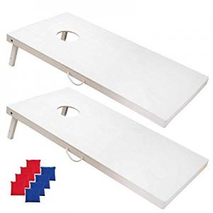 20.0% off SPORT BEATS Regulation Solid Wood Cornhole Game Set-4x2 Official Unfinished Cornhole Boa..