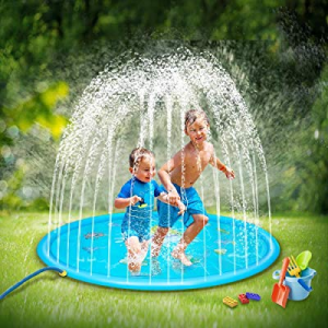 "SOOPOTAY Baby Splash Pad for Kids Toddlers 68"", Kid Sprinkler Mat Water Toys (Blue) now 60.0% off"