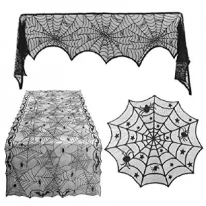 One Day Only!45.0% off West Bay Halloween Spiderweb Tablecloth Halloween Decoration Rectangular Sp..