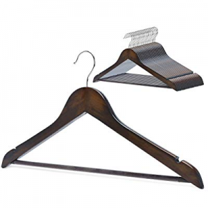 One Day Only!StorageWorks 20-Pack High Grade Solid Wooden Suit Hangers now 50.0% off , Men Women H..