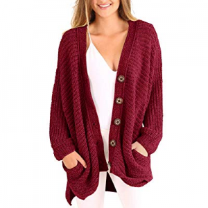 One Day Only!60.0% off Sherrylily Womens Oversized Open Front Long Sleeve Sweater Cardigans Casual..