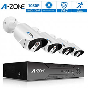 One Day Only!Security Camera System now 40.0% off , A-ZONE Security 8ch 1080P NVR HD 1080P IP PoE ..