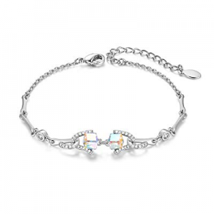 One Day Only!40.0% off CDE Friendship Charm Bracelets for Girls Women Embellished with Cubic Cryst..