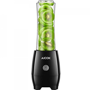One Day Only!Smoothie Blender AICOK Personal Blenders with Travel Portable Bottle now 50.0% off , ..