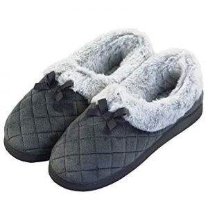 VLLY Women's Warm Slippers Comfort Memory Foam House Shoes Indoor Outdoor Slip On now 20.0% off