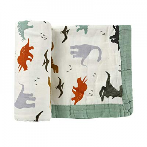 Muslin Baby Dinosaur Toddler Blanket- Large now 20.0% off , Ultra-Soft Lightweight Blanket for Boy..