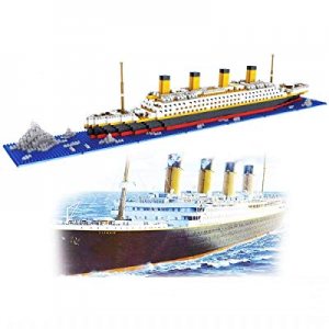 dOvOb Nano Blocks Titanic Model Building Set, 1872 Piece Mini Bricks Toy, Gift for Adults and Kids..