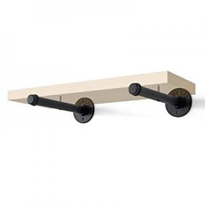 Pipe Shelf Brackets now 40.0% off , FOYO Straight Pipe Holder for Custom Shelves, DIY Floating Boo..